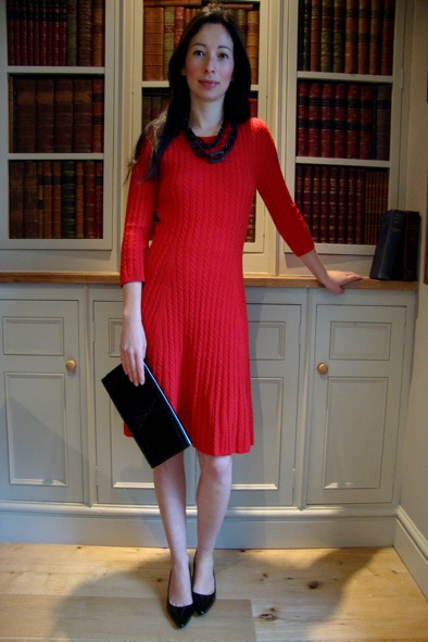 Red knitted Issa dress