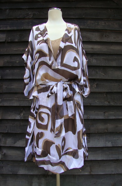 DVF silk dress