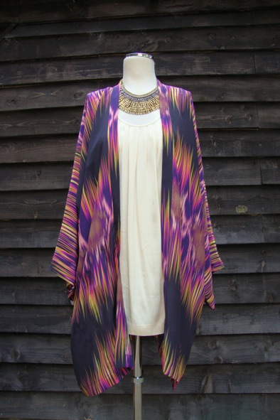 Matthew Williamson silk ikat kimono top