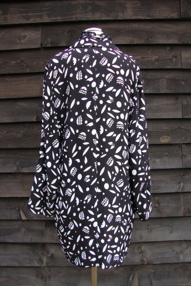 Miu Miu black and white print oversized jacket