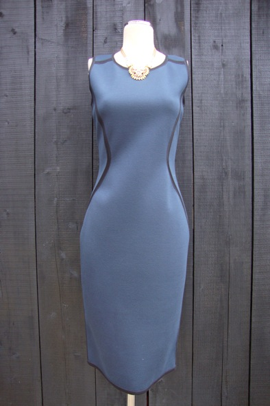 D'Exterior zip body-con dress