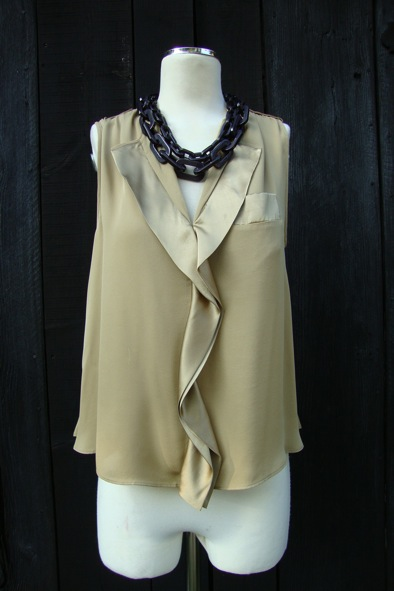 Malene Birger bronze silk top