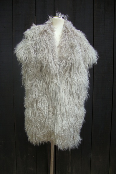 "2ND DAY grey mongolian lambs fur ""Carla"" gilet"