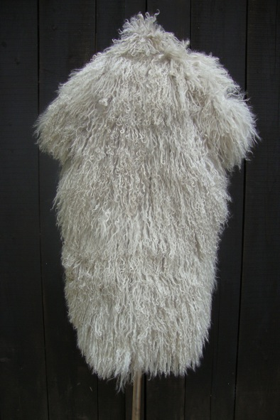 "2nd Day ""Carla"" grey Mongolian lambs fur gilet"