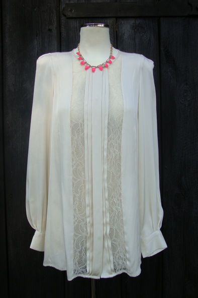 Malene Birger lace silk blouse