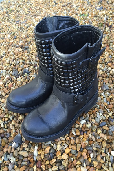 Ash Titan studded leather biker boots