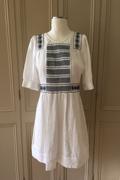 See By Chloe white linen dress