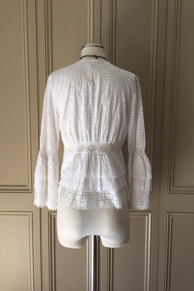 Anne Fontaine white broderie anglaise blouse