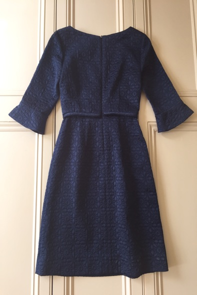 Orla Kiely navy quilted flower shift dress
