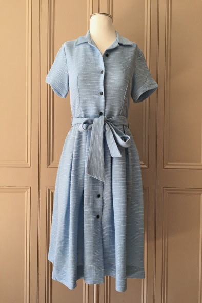 Orla Kiely sky slub silk dress