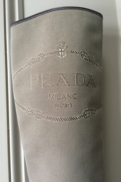 Prada leather and canvas boots