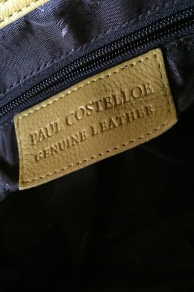 Paul Costelloe large yellow leather tote
