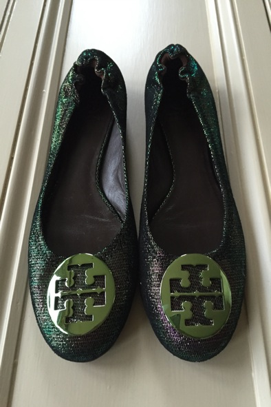Tory Burch iridescent pumps