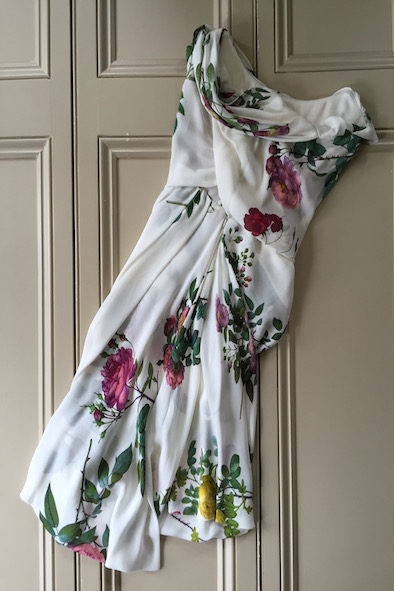 Vivienne Westwood silk floral strapless corset dress