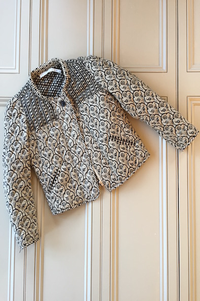 Isabel Marant quilted cotton block print jacket