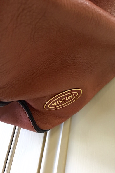 Missoni tan leather bag
