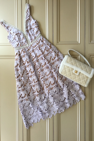 Self Portrait lilac lace dress