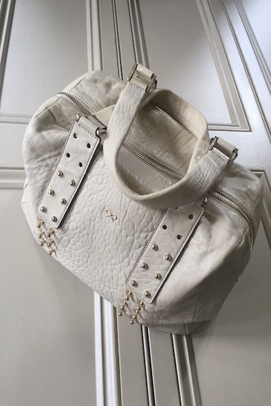 Anya Hindmarch cream butter-soft leather bag with studs