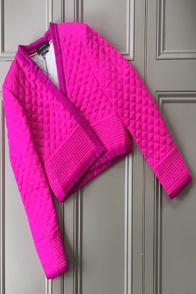 Isabel Marant hot pink silk quilted jacket