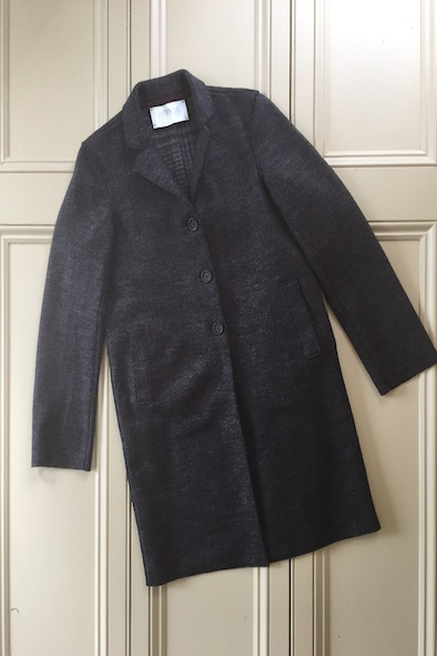 Harris Wharf London grey boiled wool coat