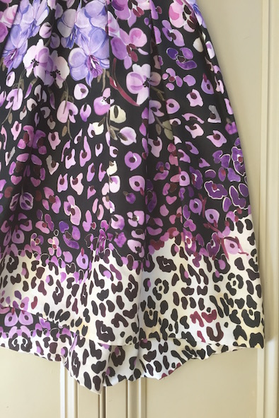 Temperley Orchidea patterned dress