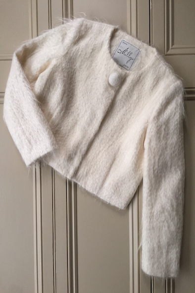 Milly of New York cream mohair cropped jacket
