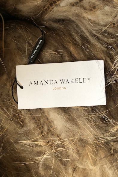 "Amanda Wakely ""Kiera' raccoon fur snood"