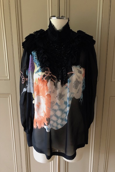 Dries Van Noten embellished silk blouse